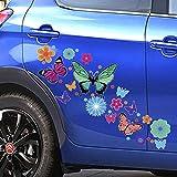 Adesivo Auto Farfalle e Fiori a colori- Auto Macchina - Adesivi PVC per esterno - Auto Moto Camper, Stickers, Decalcomanie