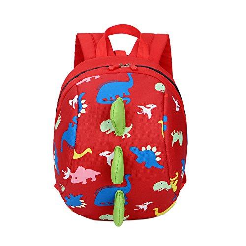 DafenQ Lindo Animal La mochila de jardín de infantes embroma la bolsa de la escuela de la taleguilla Bolso de escuela Kinderrucksack para bebé Niño Niña (Rojo)