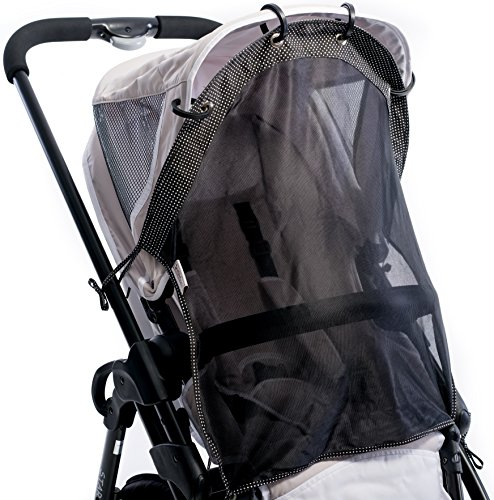 Sun Shade for Strollers and Car Seats (Regular Size). Universal Adjustable SPF 30+ Sunshade with See Through. Your Baby Will See the World and Will Be Protected. by IntiMom