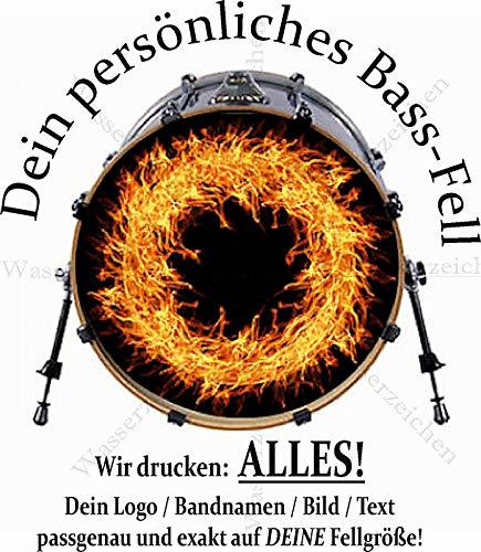 "Sticker-Designs 22""/55,88cm Aufkleber/Klebe-Folie!Made IN Germany Bass Drum Kratzfest!Abwaschbar!Fell Resonanz Trommel Beschriftung Kleben Folieren persönlich/eigen Band Motiv Logo Bild Text Schrift"