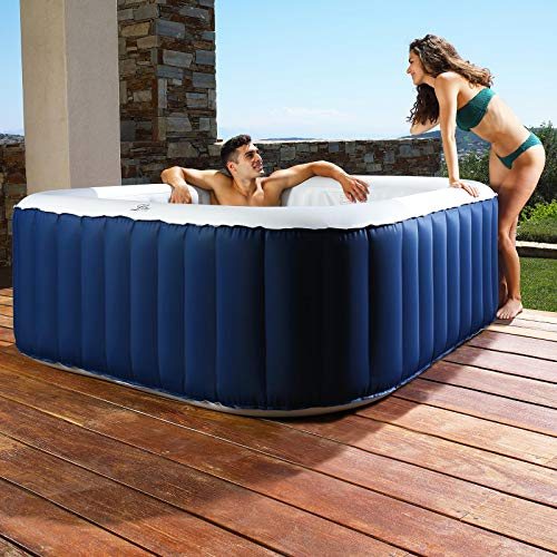 ASAB Inflatable Bubble Jet Hot Tub Garden Heated Jacuzzi SPA 4 Person...
