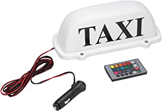 Qii lu 12V Magnetic LED Taxi Top Light,15 Colors Super Bright Taxi Cab Top Roof Sign Light With Remote Control