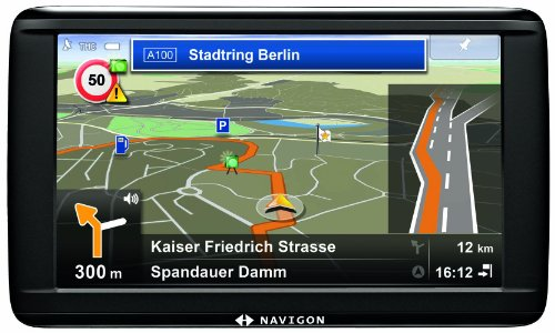 Navigon 72 Easy Navigationssystem (12,7cm (5 Zoll) Touchscreen Display, Europa 20, TMC, Navigon Flow, Aktiver Fahrspurassistent, Reality View Pro)
