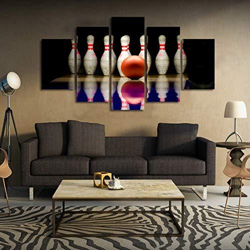 POLLKK 5 Tafeln Moderne Wandkunst Hd Gedruckt Poster Modulare Sport Bowlingkugel Leinwand Bild Room Home Decor Malerei