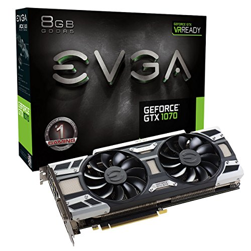 EVGA GeForce GTX 1070 GAMING ACX 3.0/8GB GDDR5/LED/DX12 OSD Supporté (PXOC) Carte Graphique 08G-P4-6171-KR