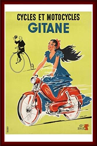 Herbé TM Poster / Kunstdruck, 40 x 60 cm * d1, Vintage-/Antik-/Retro, Fahrräder, Gitan-Motorräder (BR*)