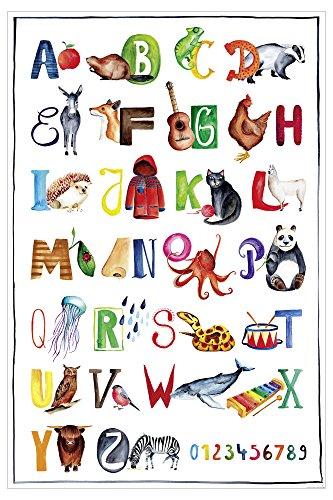 Close Up Das ABC Premium Poster für Kinder, Alphabet Lern-Kunst-Plakat - 61 x 91,5 cm, UV-Lack Beschichtung