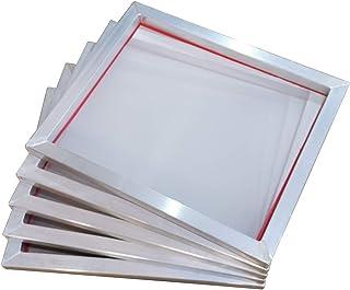 """Pervading Lot de 6, DIN A3 Cadre en Aluminium pour la Sérigraphie avec Tissu Blanche 55T / 140 (46 x 51 cm (18""""x20""""))"""