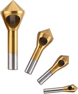 Saipor 面取りカッター バリ取り ドリルビットセットチタンコーティング 面取りビット ツールキット 4本セット 範囲 2-5mm/5-10mm/10-15mm/15-20mm