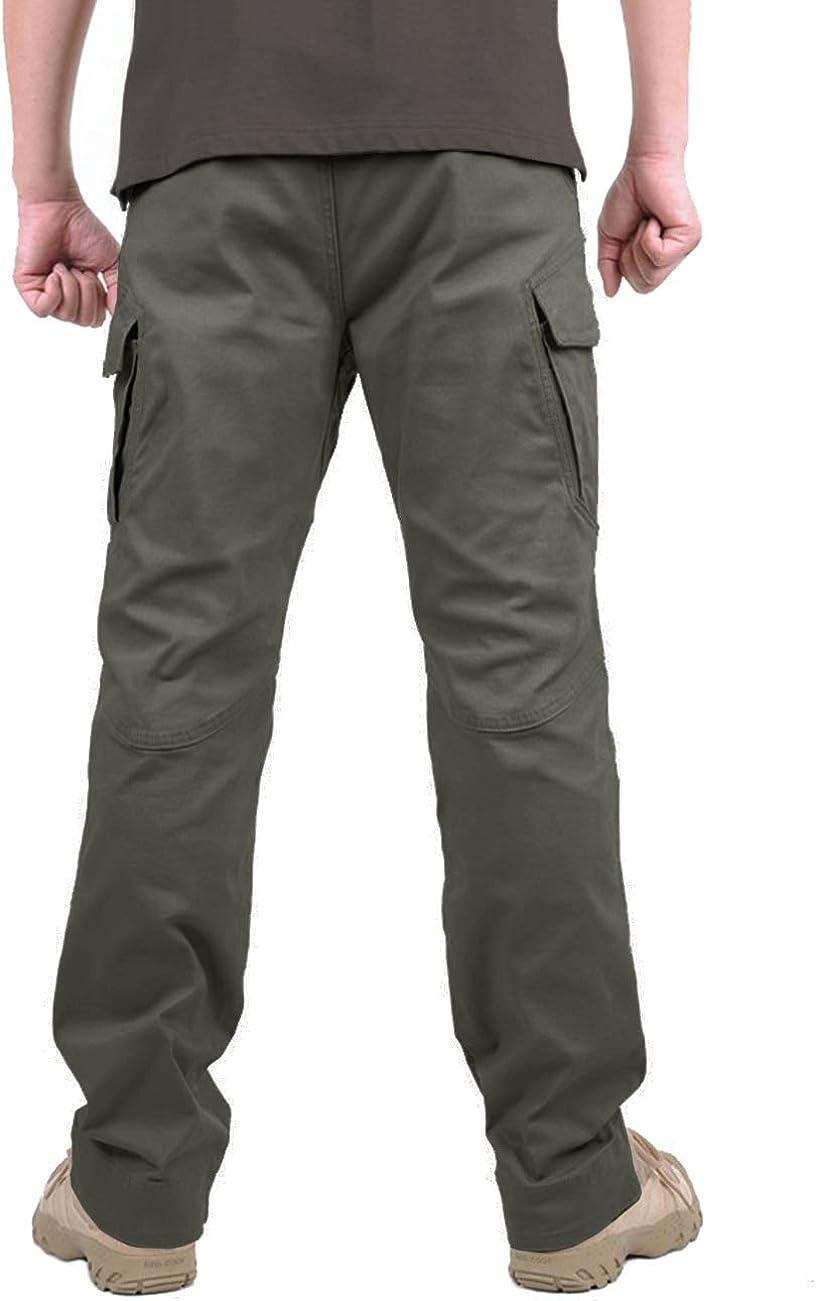 MAGCOMSEN Mens Outdoor Scratch-Resistant Tactical Pants Lightweight Outdoor Cargo Pants Work Trousers