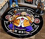 chengcheng Alfombra de Dragon Ball, alfombras Redondas de Anime, cojín para Silla giratoria de Estudio para Dormitorio, tapete de Creatividad para niños 180cm