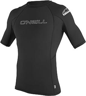 O'Neill Wetsuits Men's BASIC SKINS Rash Guards, Black, Large