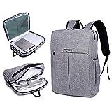Garybank Waterproof Slim Laptop Backpack for Women Men Both Top Loader and Panel Loader Business Backpack Good for College School Travel Shoulder Tech Bag Up to 16' Laptop & Notebook Gray