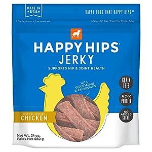 Happy Hips Chicken Jerky, Grain Free Dog Treats with Glucosamine & Chondroitin, Made in USA, 24 oz, 29253