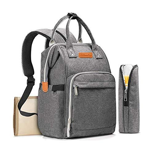 JOSEKO Baby Wickelrucksack Wickeltasche, Große Kapazität Reiserucksack Babysachen mit USB-Ladeanschluss Wickelunterlage für unterwegs geeignet für Mother\'s Travel