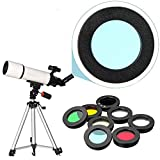 KANGSHENG Telescopio astronómico 8 unids/Set 1,25 Pulgadas Filtro de Lente Luna Filtro Solar para telescopio Ocular Accesorios refractores