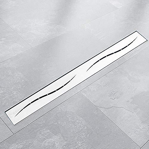 BITUXX® Edelstahl Duschrinnen Ablaufrinnen Bodenablauf Duschrinne Duschablauf Streifen (70cm)
