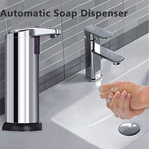 Dispenser Sapone Automatico, Dispenser Gel Disinfettante Mani, Dispenser Sapone Liquido Touchless, Sensore di Movimento a infrarossi, Base Impermeabile, Bagno appropriato, cucine, Ristorante