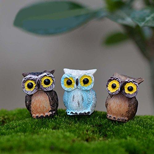 Décoration Miniature Ornement Accessoire Animal Hibou pour Décoration Micro-paysage de Jardin