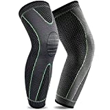 Beister 1 Pair Compression Leg Sleeves for Men & Women, Extra Long Leg