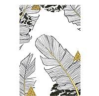 chenjiaxu モンステラリーフ植物スカンジナビアポスター北欧キャンバスアートプリント絵画壁画リビングルーム装飾用-50x70cmフレームなし