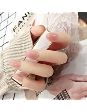 24枚純色付け爪 ネイル貼るだけネイルチップ お花嫁付け爪
