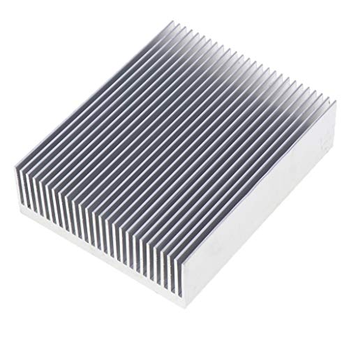 B Blesiya Aleta de Enfriamiento del Disipador de Calor de Aluminio 100x27x80mm para CPU del Amplificador de Potencia