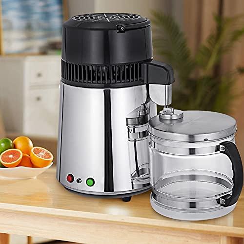 VEVOR Destilador de Agua 4L Filtro de Destilación de Agua de Acero Inoxidable 750W
