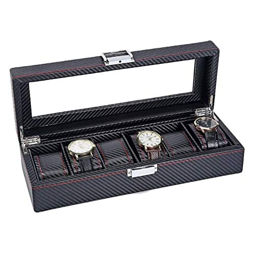 LSLS Caja joyero Modern Finish Watch Funda de la Caja Organizador de exhibición con la Caja de Reloj Black Black Black Sostiene los Relojes de los Hombres Organizador de Joyas (Size : L33*W12*H8cm)