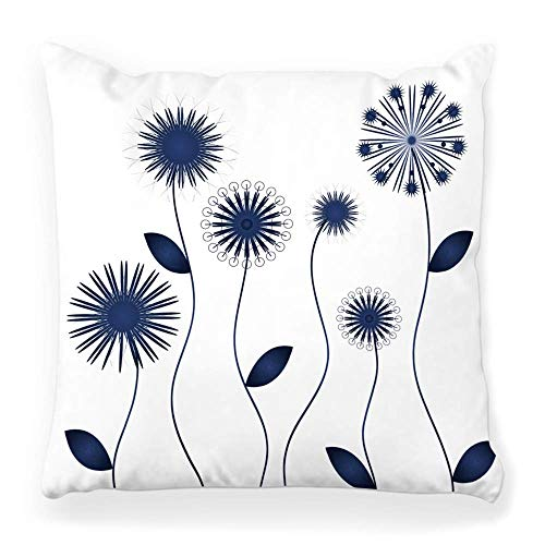 Fantastic Fairy Pillow Cover 20x20 Inch Blue Winter Spring Flower Floral Leaf Silhouette A Pattern Abstract Agriculture Autumn Banner Beauty