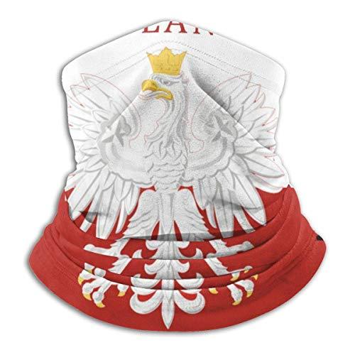 Randy-Shop Polnische Flagge Polen Polska Halsmanschette Halswärmer Gesichtsschutz Unisex