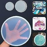 Zunbo - Sottovaso Rotondo Trasparente in Silicone epossidico stampi in Resina per versare con Resina Cemento e Argilla polimerica