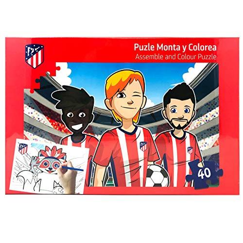 ATLETICO DE MADRID Kick Off Games, Jigsaw Coloreal Tu Puzzle Standard (34327), Multicolor 1