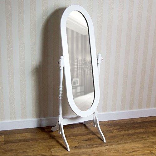 Vida Designs Nishano Standspiegel Weiß, Schwenkbar