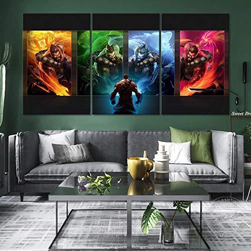 JEfunv League of Legends, póster de Videojuegos, imágenes de LOL, Pintura de Pared Udyr, Lienzo artístico, Imagen de Pared para Sala de Estar, 50x70 cm, 20x28 Pulgadas, sin Marco