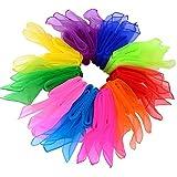 byou Sciarpe di Giocoleria,Sciarpa di Danza 20 Pezzi Seta Colorati Quadrato Sciarpe per As...