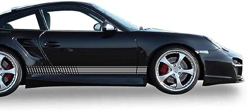 Bubbles Designs Decal Sticker Vinyl Side Sport Stripe Body Kit Compatible with Porsche 911 2012-2017 (Gray)