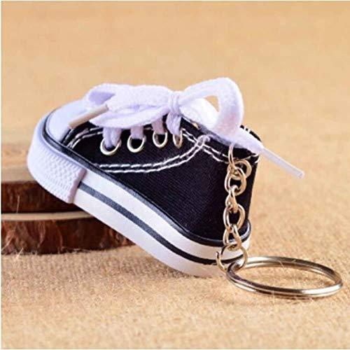 Unbekannt Sneaker Baby Kinder süßer Kleiner Schuh Schlüsselanhänger Anhänger | Geburt | Mädchen | Junge | Geschenk | schwarz