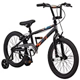 Mongoose Switch BMX Bike for Kids, 18-Inch Wheels, Includes Removable Training Wheels , Black