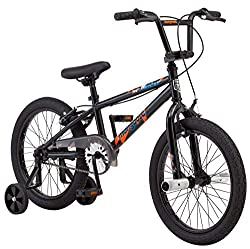 powerful Children's Mongoose Switch BMX Bike 18 inch bike with removable training wheels