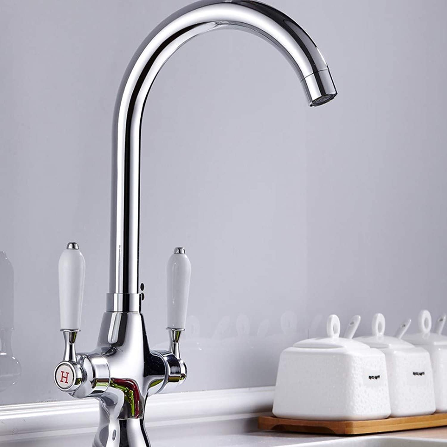 KUNHAN Kitchen Sink Faucet Tap Brass Kitchen Faucet Chrome Kitchen Kitchen Sink Faucet Tap Hot And Cold Water Faucet Water Aerator