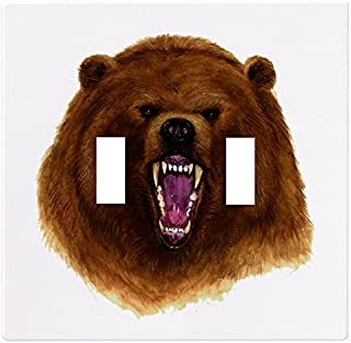 Bear Head Wallplate Switch Plate Cover (2 Gang - Double Toggle)