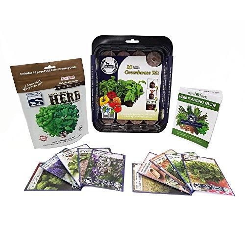 Culinary Herb Seeds Outdoor & Indoor Herb Garden Kit - 10 Herb...