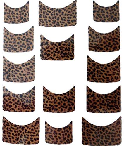 CM Nail Art manucure Stickers Ongles Scrapbooking: 14 décalcomanies Motifs léopards Marrons