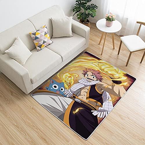 Alfombra Rectangular Hogar Dormitorio Sala De Estar Guardería Dormitorio Anime Dibujos Animados Fairy Tail Patrón Alfombra Decoración De Suelo Lavable A Máquina-80X120CM-A_60x90cm