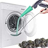 Dryer Vent Cleaner Kit Vacuum Hose Attachment Brush Lint Remover Tool for Power Washer and Dryer Vent Vacuum Hose (Green)