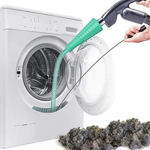 Dryer Vent Cleaner Kit Vacuum Hose Attachment Brush Lint Remover Power Washer and Dryer Vent Vacuum Hose (V2-Green)