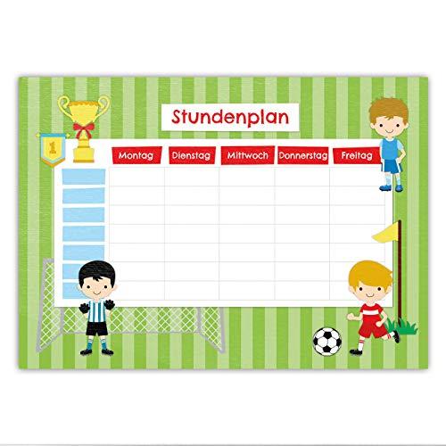 Papierdrachen Bloc de horas DIN A5, diseño de fútbol, se...