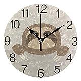 Kncsru Bonito Reloj de Pared Redondo, silencioso, sin tictac, Funciona con Pilas para decoración del hogar, 9,88 Pulgadas