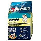 ONTARIO Pienso Perros Adultos Razas pequeñas -Pescado y Arroz - 2.25kg